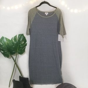 NWT LuLaRoe Julia Shift Dress Large Baseball